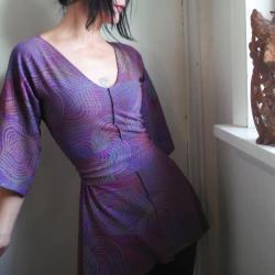 Around My Smile - iheartfink Handmade Hand Printed Tunic Top with Belt